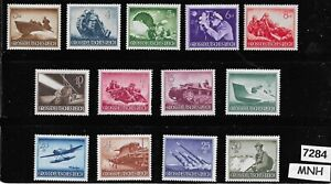 MNH stamp 1944 set Military Hero's Third Reich Germany ScB257-269 Wehrmacht