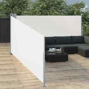 NUOVO Tenda da Sole Laterale Retrattile Crema 100x1000 cm Giardino K8H0