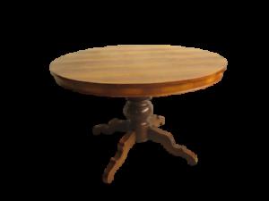 Tavolo-tondo-rotondo-allungabile-noce-lastronato-epoca-900
