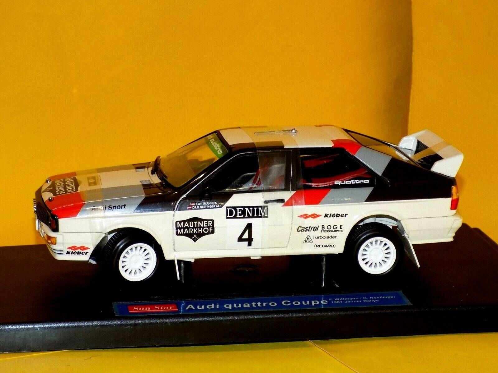Audi Quattro Coupe Coupe Coupe for Wittmann K.Nestlinger  DENIM 1981  SUN STAR 4182 1 18 15d73d