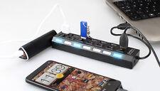 7 PORTA USB 2.0 Hub ad alta velocità la condivisione di interruttore ON/OFF Splitter per PC portatile
