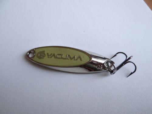 GT-Bio Yacuma GLOW Barsch Zocker Forellen Spoon Blinker Mustad Driling.Silberfar