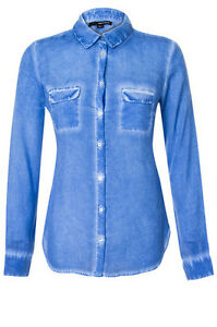 TRENDY-Chemise-fine-manches-longues-bleu-effet-bleashed-tye-amp-dye-TALLY-WEIJL-38