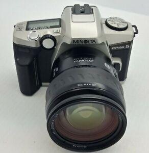Minolta Dynax 5 AF SLR film Camera  w/ Minolta AF 28-105mm Zoom xi Lens