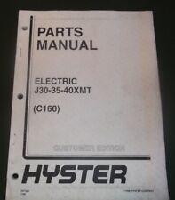 Hyster J30xmt J35xmt J40xmt Electric Forklift Parts Manual Book Catalog