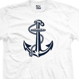 Anchor Art T-Shirt All Sizes /& Colors Symbol Tattoo Design Sailor