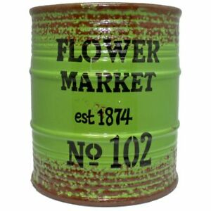 Boltze-Pflanztopf-Flower-Market-Steingut-gruen-Blumentopf-Ubertopf-Industrial-Neu