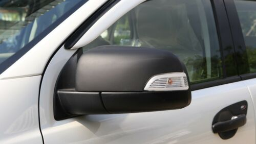 MATT BLACK WING MIRROR TRIM COVER FOR FORD EVEREST 2015 INSTALL WITH TAPE 3M