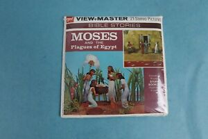 VINTAGE VIEW-MASTER 3D REEL PACKET B853 MOSES & PLAGUES OF EGYPT SEALED