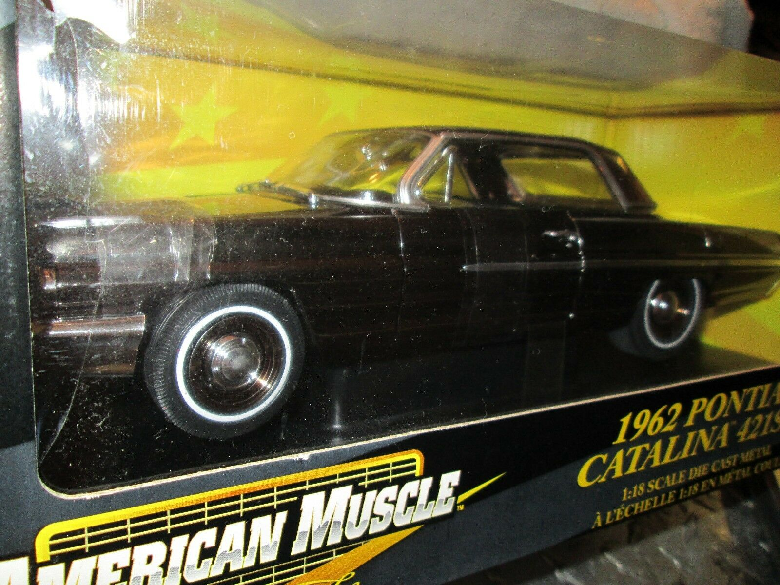 62 Pontiac Catalina 421 Sd 1 18 Ertl American Muscle Poursuite Noir Chrome