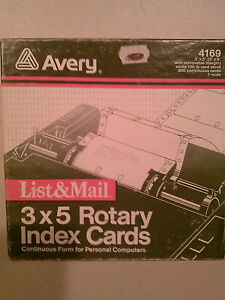 Avery List Mail 3x5 Rotary Index Cards 4169 eBay