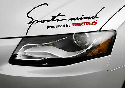 Sports Mind Produced by MAZDA 6 Racing Decal sticker emblem logo BLACK Pair
