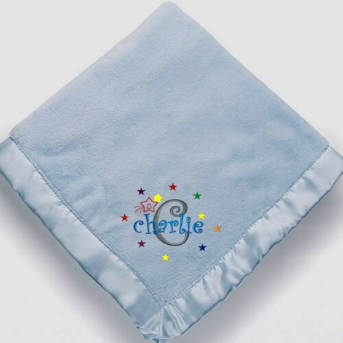 Personalized Monogrammed Baby Blanket for Boys ~ Embroidered baby boy blanket~