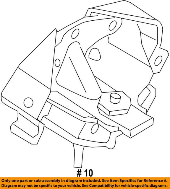 Ford Oem Auto Trans Mount Fl3z6068e Image 10 For Sale Online