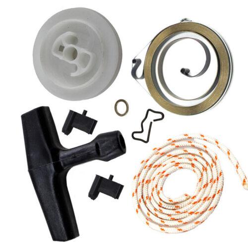 Recoil Rewind Ressort Démarreur Poulie Poignée Corde Rotor cliquet pour STIHL MS440 MS460