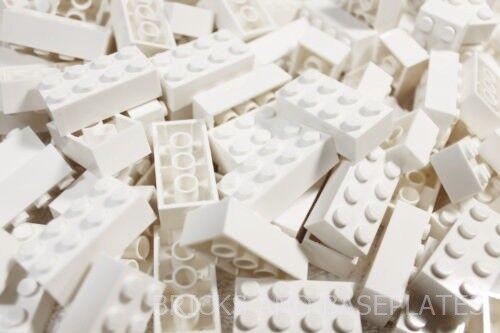 LEGO Mattoni 200 X Bianco 2x4 PIN-Set da Nuovo  di Zecca inviati in un sacchetto trasparente sigillati  alla moda