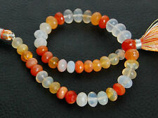 AAA Natural Mexican Fire Opal Faceted Rondelle Gemstone Beads 5.5-7mm