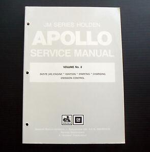 JM-APOLLO-Holden-Service-Manual-Volume-No-3-engine-3VZ-FE-V6-workshop-repair-EFI