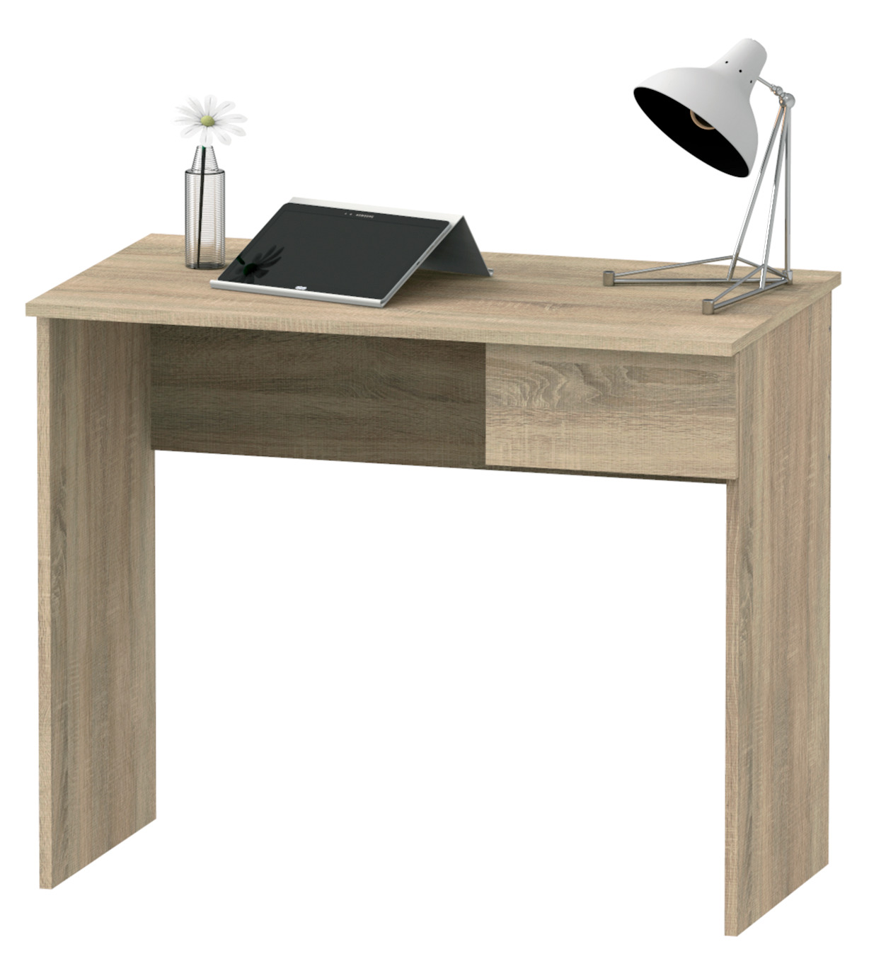 Mesa de ordenador escritorio juvenil con cajon color cambrian para estudio 90cm