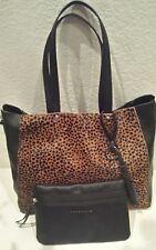 91daf0bde5f0 item 2 NEW Sanctuary Leather Calf Hair Leopard Print Black Shoulder Tote Bag  w/Pouch❤ -NEW Sanctuary Leather Calf Hair Leopard Print Black Shoulder Tote  ...
