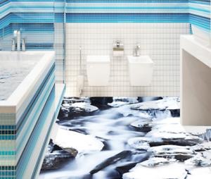 3D Ice Snow Stones 43 Floor WallPaper Murals Wall Print 5D AJ WALLPAPER UK Lemon