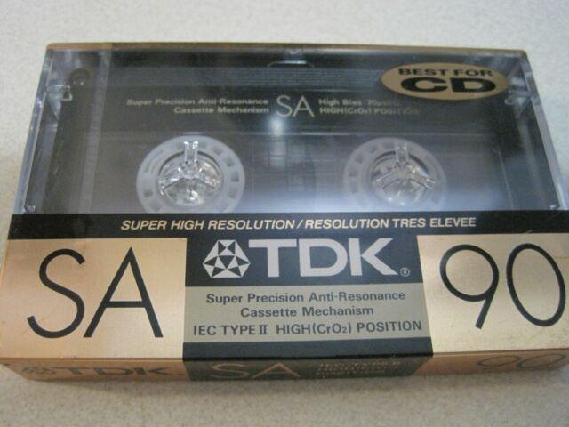 Blank Cassette TDK SA 90 IEC II Type II Audio Tape High Resolution NEW RARE