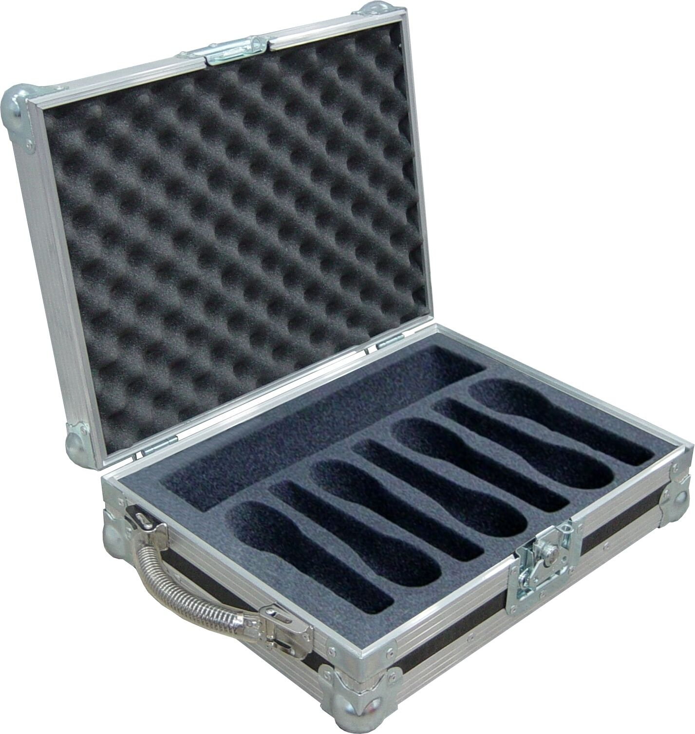Microphone Mic Holds 7 Swan Flight Case (Hex)