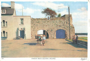 Spanish Arch, Galway, Ireland. Lovely Rare Vintage Postcard (Aug 1961).