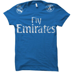 online store a29f4 e75bf Details about Real Madrid Fly Emirates Sponsored Team Cristiano Ronaldo  Soccer Jersey T-Shirt