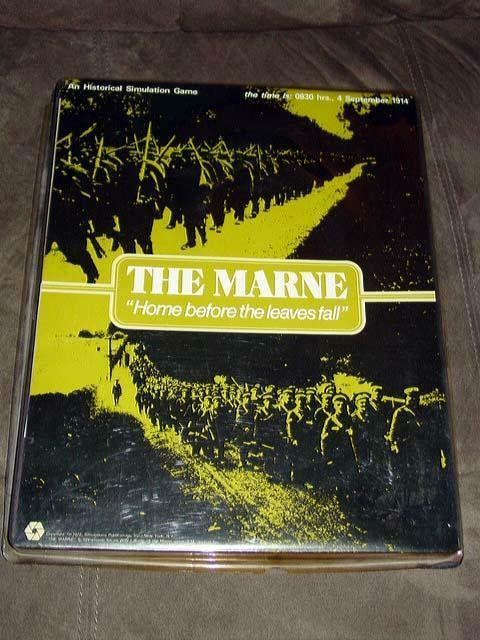 SPI 1972 edition - THE MARNE   WW1 Home Before the Leaves Fall (Punched)