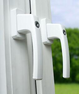 12x Aluminium Fenstergriff abschließbar Kindersicherung Fenstersicherung in