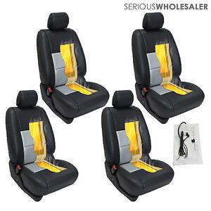 Carbon Fiber Universal Car Heated Seat Heater Kit Cushion - Round ...