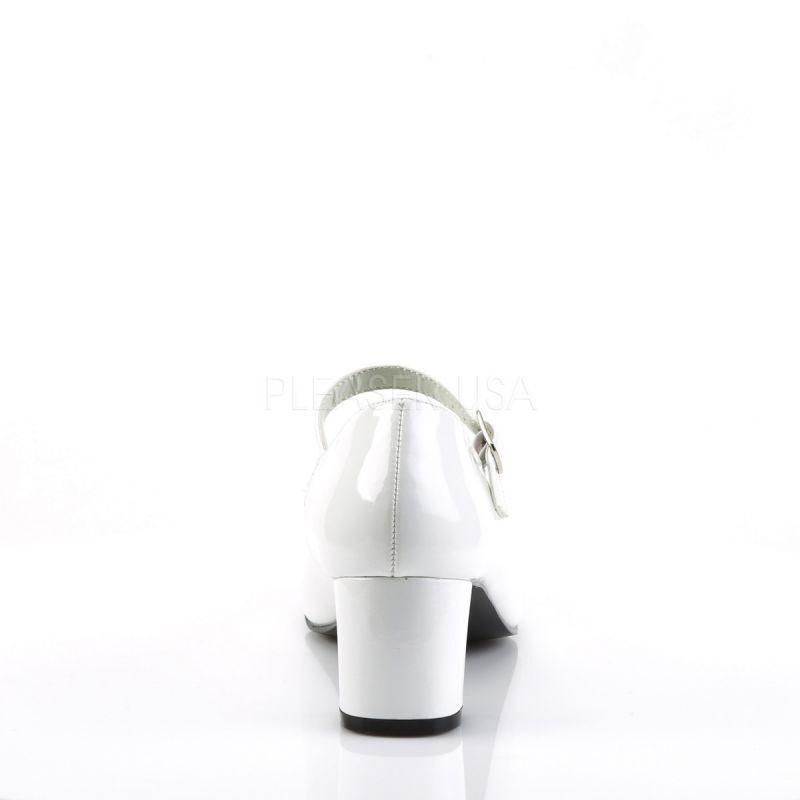 Funtasma PUMPS Schoolgirl - 50 Bianco Vernice | | | Prima classe nella sua classe  | Uomini/Donne Scarpa  e89846