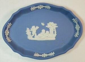 Pale Blue Jasperware Trinket Dish