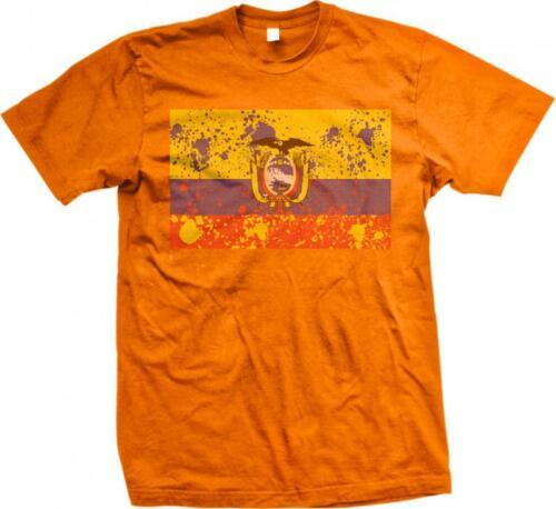 Ecuador Spatter Flag Ecuadorian Pride Bandera Orgullo Ecuatoriano Mens T-shirt
