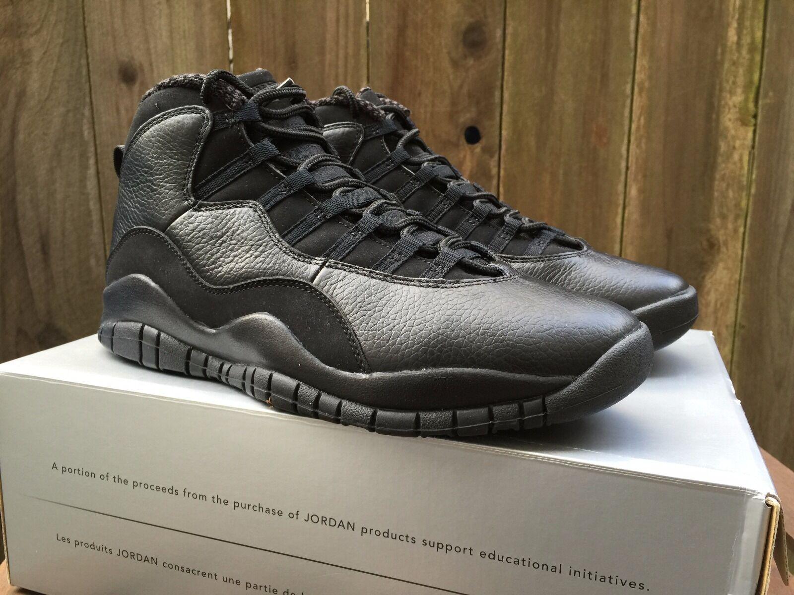 RARE DS Nike AIR JORDAN 10 X Retro sz10 2005 310805 010 Black Cat   Stealth kobe