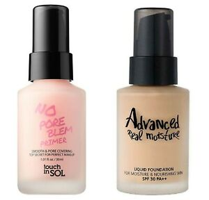 Touch-In-SOL-No-Pore-Blem-Primer-amp-Advanced-Real-Moisture-Liquid-Foundation