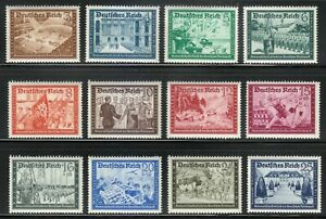 Germany 1939 MNH Mi 702-713 Society,sport,workers,army,stage coach,cars **