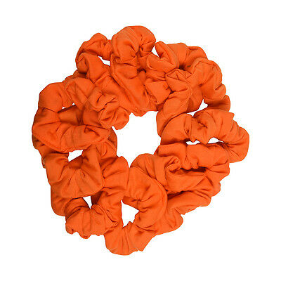 Six Soft Cotton Scrunchies Stretchy Cute Red Girls Ponytail Hair Bobbles