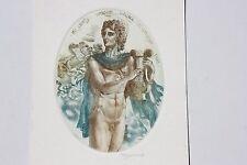 Werner Daniel Ex libris etching nude signed David Bekker Ukraine 1986