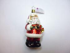 """Inge Glas Weihnachtsschmuck """"Fröhliche Weihnachten"""" Weihnachtsmann 12,50 cm hoch"""