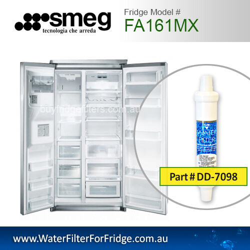DD-7098 EXTERNAL WATER FILTERS FOR SMEG FRIDGE MODEL FA161MX