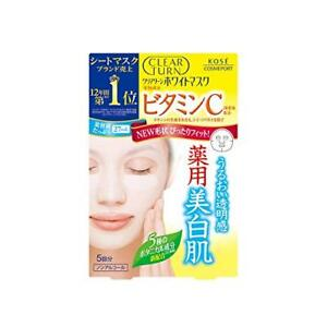 Kose-Clear-Turn-White-Vitamin-C-Facial-Mask-Sheets-5-Count