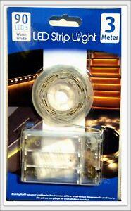 LED-Stripe-in-3-Farben-3m-90-LED-Streifen-mit-Batterie-Band-Leiste-Strip