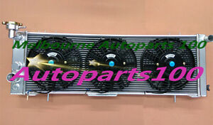 For-Jeep-Cherokee-Radiator-and-fans-XJ-94-01-Sport-4-0l-6Cly-3-Row-alloy-AT-MT