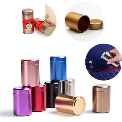 Mini Metal Tin Canisters Tea Sugar Coffee Powder Container Storage Box Jar NEW | eBay