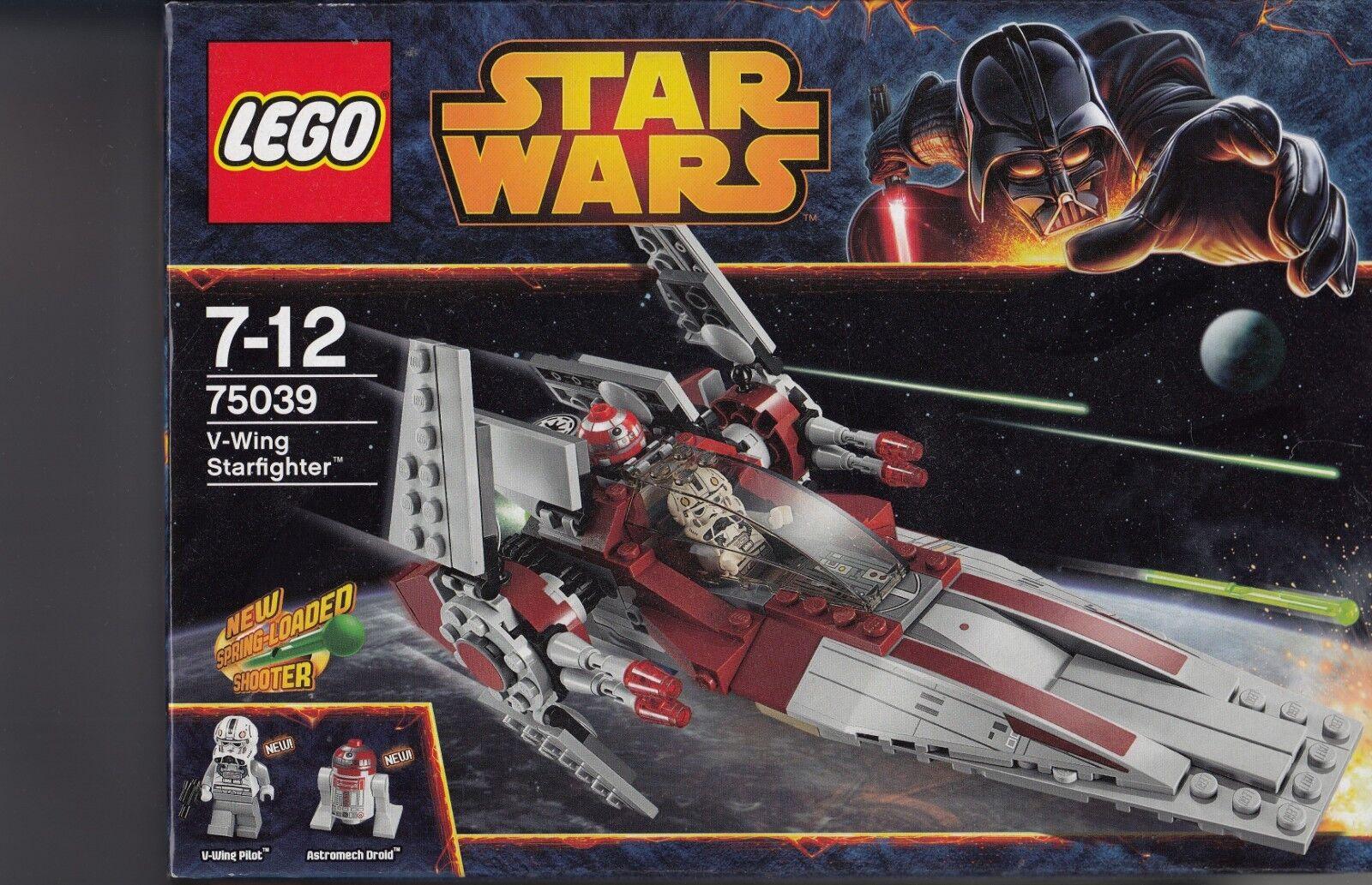 NEU & OVP LEGO Star Wars 75039 V-Wing Starfighter Figuren Pilot Droid Shooter