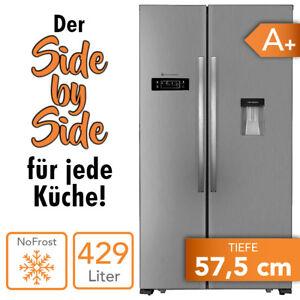 Kuehl-Gefrierkombination-Side-by-Side-Kuehlschrank-No-Frost-A-Wassertank-NEU
