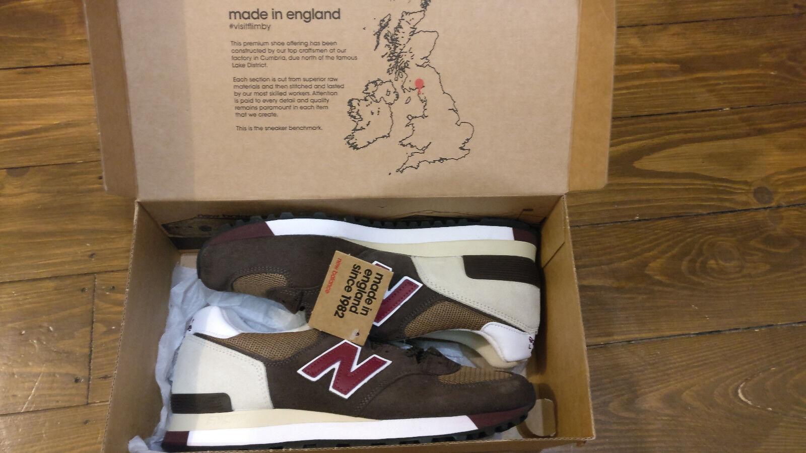 NEW Balance 577 Scarpe da ginnastica (come 574)   MARRONE   UK TG 7.5   Nuovi   Made in UK