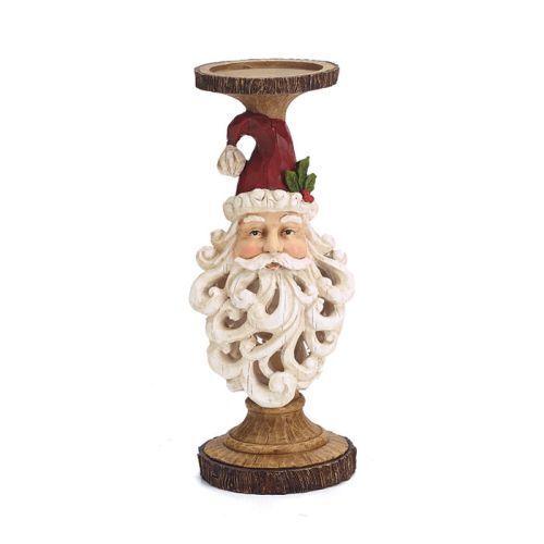 Burton /& Burton Candleholder 12.5 Santa Head